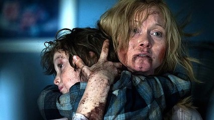 FILM REVIEW OF THE BABADOOK THE FILM WITJ THE KID AND THE MONSTER