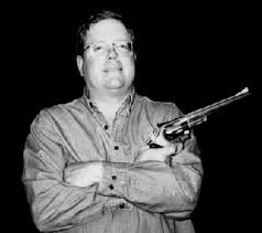 RICHARD LAYMON AUTHOR PHOTO WITH GUN