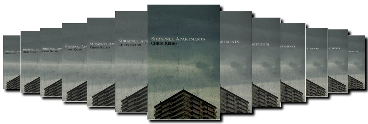 HORROR FICTION BOOK REVIEW SHARPNEL APARTMENTS BY CHRIS KELSO UK HORROR REVIEW WEBSITE GINGER NUTS